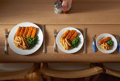 Dinner plates have gotten bigger, too, along with portion sizes.