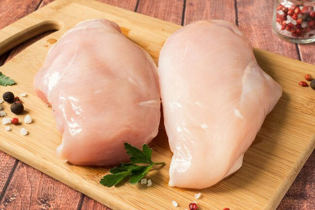 It's better to allow the cooking process to destroy bacteria on chicken rather than washing it off.