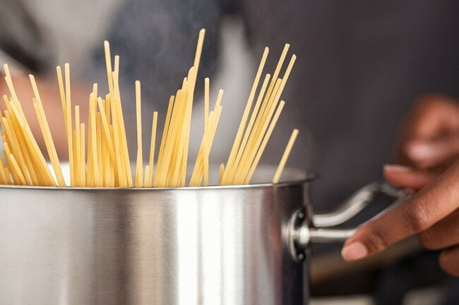 It is not necessary to rinse pasta before or after cooking and doing so makes it harder for sauce to stick to the noodles.