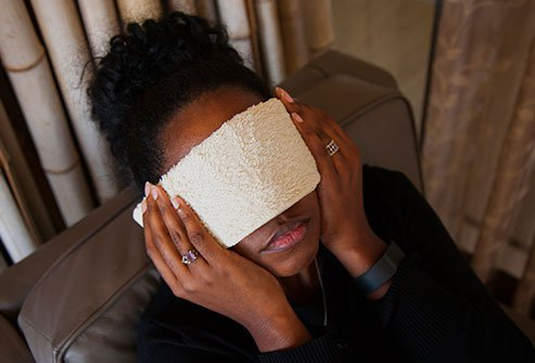 Moist heat can relieve your sinus pressure.