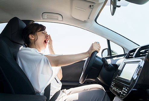 Nodding off behind the wheel is a serious highway danger.