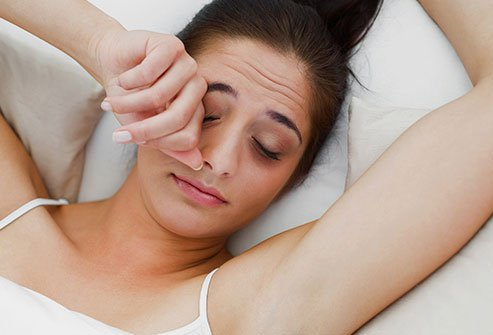 If you've gone without sleep, the signs may appear beneath your eyelids.