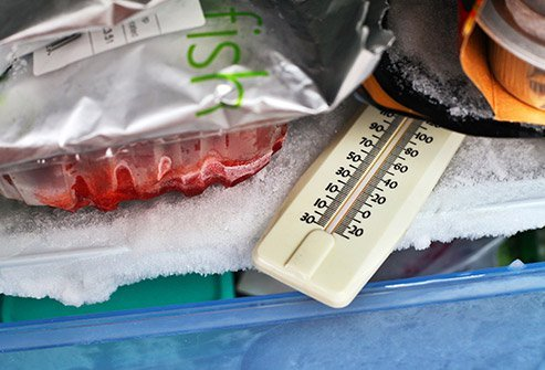 Set the refrigerator to 40 degrees F or less to minimize the growth of bacteria that can make you sick.