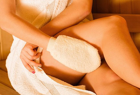 There is no proof that exfoliating products reduce the appearance of stretch marks.