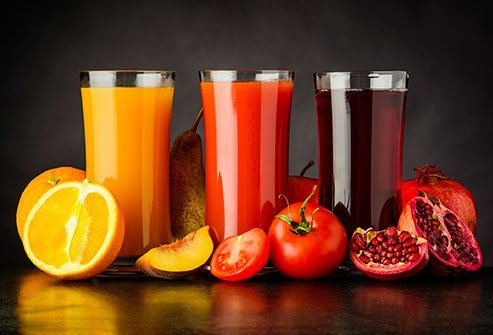 """Just having """"fruit"""" in the name doesn't make fruit juice healthy necessarily."""