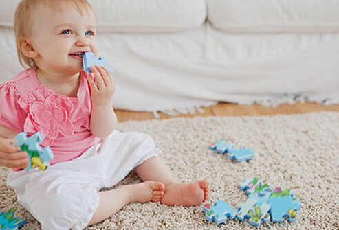 When a new carpet is installed, there's a very good chance it will release chemicals from its vinyl backing and the glue used to hold the carpet to the floor.