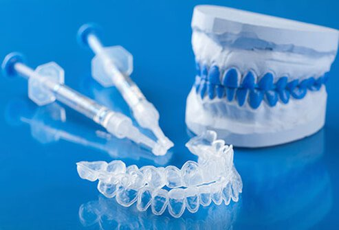 Teeth whitening trays and gel.