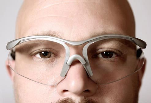 Wear safety glasses to protect your eyes.