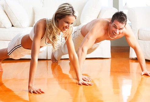 Exercising can also help strengthen relationships.