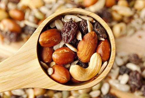 Make your own trail mix for an iron-rich snack.