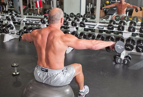 This classic move targets the deltoid muscles.