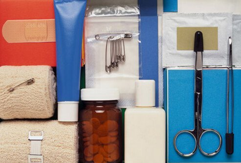 You can buy a travel first aid kit or make your own.