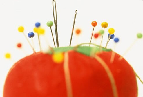 Photo of pin cushion, representing diabetes and nerve pain.