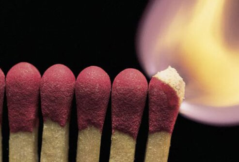 Photo of burning matches.