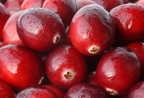 Photo of fresh cranberries.