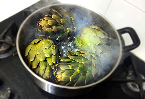 Boiled artichokes with butter or olive oil and salt are a great source of protein.