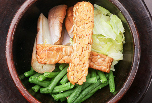 Tempeh is fermented soy and it makes a great substitute for meat.