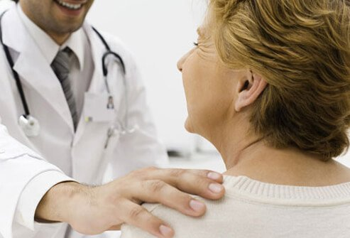 A doctor and patient discuss IBD.
