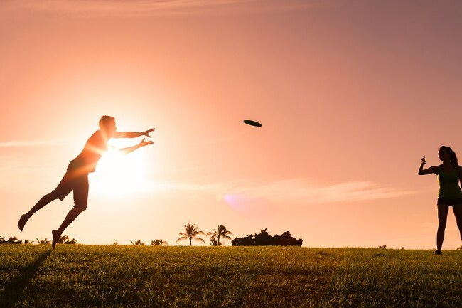 Informal outdoor activities like playing catch and throwing a frisbee help you be more active.