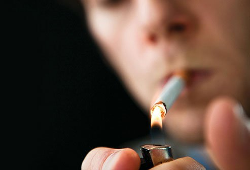 Nicotine in cigarettes and tobacco products may cause heart palpitations.