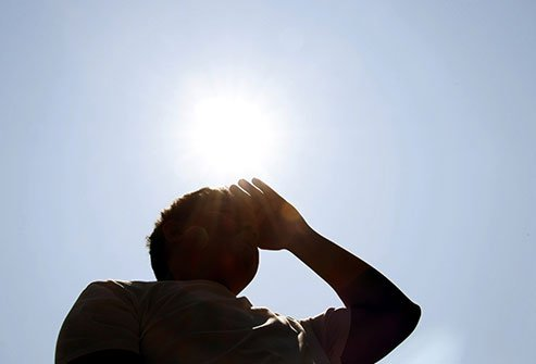 It happens in extreme heat when your body cannot get cool enough and sweats away too much water and salt.