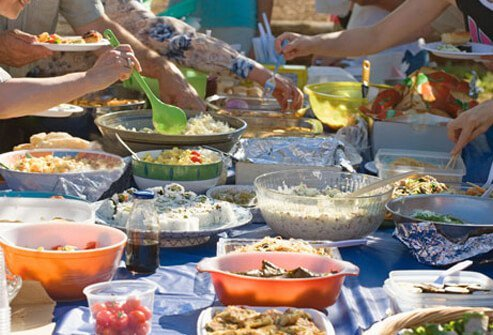You may not want to insult your friends by avoiding their potluck offerings.