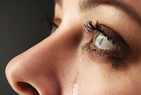Tears are a good thing. They keep your eyes moist, and they help wash out things that do not belong.