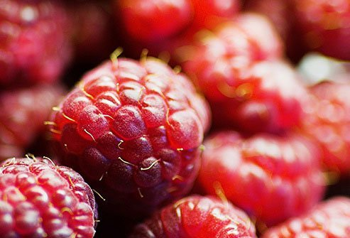 Raspberries supply lots of fiber and not much sugar.