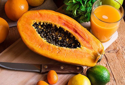 Choose papaya if you enjoy tropical fruit that does not have a lot of sugar.