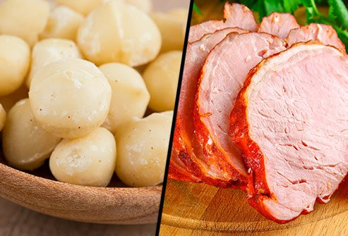 Does pork tenderloin or macadamia nuts have more saturated fat?