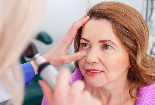 By shining a light in your eyes, a doctor can detect glaucoma, diabetes, and other problems.