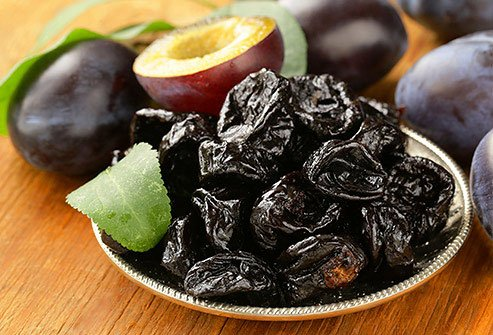 Dried fruit like prunes are another good source of potassium.