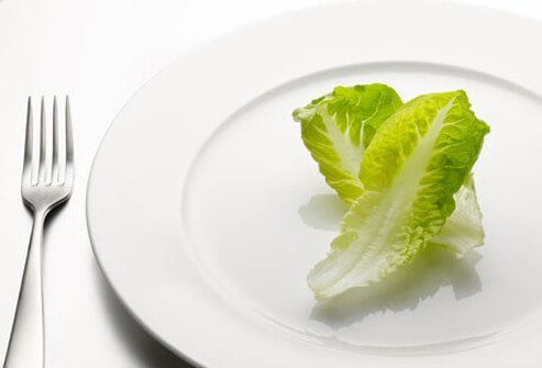 Nutritional deficiencies from crash diets may cause your hair to fall out.