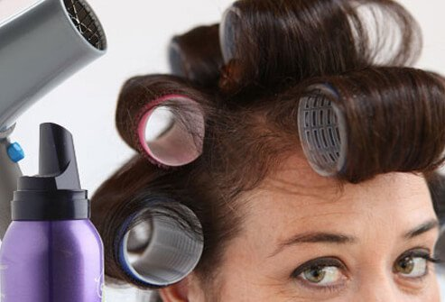 Volumizing products and flattering hairstyles can make hair appear fuller.