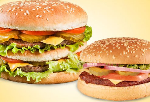 When only a hamburger will do, or a drive-through is your only option, think small.