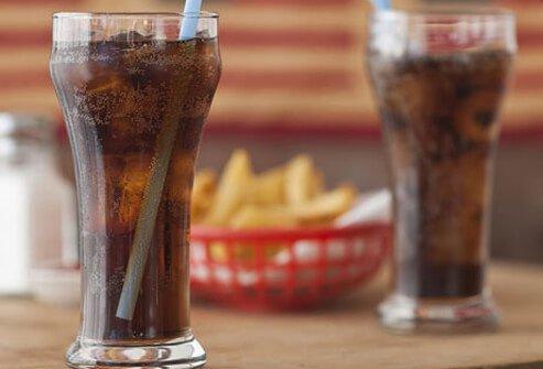 Photo of soda and fries.